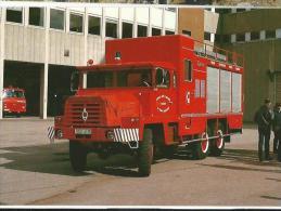 BERLIET FOURGON D'INTERVENTION PRODUITS DANGEREUX Pompiers ROUEN 1987 - Camions & Poids Lourds