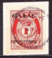 CRETE 1909 ELLAS Provisional 1 L Red Vl. 64 On Piece - Creta