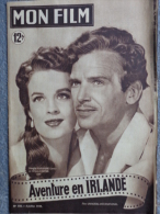 MON FILM -CINEMA-6-7-1949- AVENTURE EN IRLANDE- DOUGLAS FAIRBANKS-HELENA CARTER-R. GREENE-CECILE AUBRY-FERNAND LEDOUX - Kino/Fernsehen