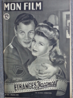 MON FILM -CINEMA-20-7-1949- ETRANGES VACANCES- GINGER ROGERS-JOSEPH COTTEN-SHIRLEY TEMPLE-DANIELLE DARIEUX-M.ESCANDE - Cinéma/Télévision