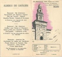 MILANO Carte D'hôtel Dei Cavalieri Lot De Divers Tickets Italiens Milan Venise - Hotel Labels