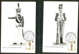 1974 Guernsey Uniformi 13 Cartoline Maximum - DL31 - Guernsey