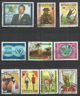 TEN AT A TIME - CAMERUN  - LOT OF 10 DIFFERENT 1 - USED OBLITERE GESTEMPELT USADO - Kameroen (1960-...)