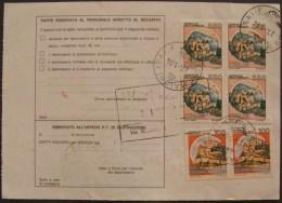 COLORE PIù CHIARO 2scans Bollettino Spedizione 1994 PACCO ORD. Castello £ 100 550 Quartina Blocco Castelli D´Italia - 6. 1946-.. Repubblica
