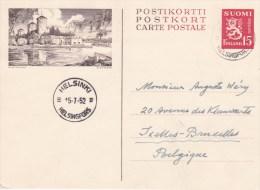 Finland; Postal Card 1952 To Belgium - Finland