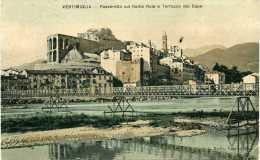VENTIMIGLIA - PASSERELLA SUL FIUME ROIA A TERRAZZO DEL CAPO - VG 1909 XDEGO ORIGINALE D´EPOCA 100% - Altre Città