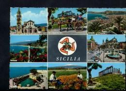 L319 Ricordo Della Sicilia, Vedute Con Posti Caratteristici - Used 1969 - Ed. Cecami - Italie