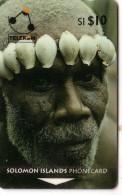 SALOMON SOLOMON MAN OF TURARANA COQUILLAGE SHELL N° 02SIC.....10$ UT - Isole Salomon