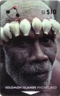 SALOMON SOLOMON MAN OF TURARANA COQUILLAGE SHELL N° 02SIC.....10$ AVEC WITH B UT - Solomoneilanden