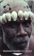 SALOMON SOLOMON MAN OF TURARANA COQUILLAGE SHELL N° 02SIC.....10$ AVEC WITH B UT - Isole Salomon