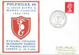 1969. POLPHILEX 69. PHILATELIC EXHIBITION 25th. ANNIVERSARY OF BATTLE AT MONTE CASSINO - 1939-44: World War Two