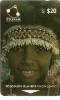 SALOMON SOLOMON YOUNG GIRL OF SULUFOU ISLAND COQUILLAGE SHELL N° 02SDA.....20$  UT - Solomon Islands