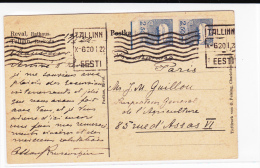 ESTONIE - 1922 - CARTE POSTALE Avec MECA De TALLINN Pour PARIS - Estonia