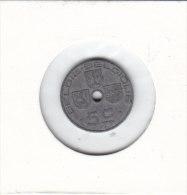5 CENTIMES Zinc Léopold III 1942 FL/FR - 01. 5 Centimes
