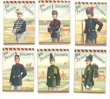 """Armée Belge - Lot De 6 Chromos """" Nos Petits Soldats""""Militaires-  Uniformes - Cigarettes .(Mich2) - Collections & Lots"""