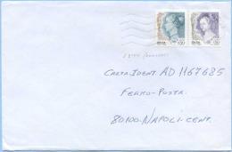 1999 DONNE L. 450 /0,23 + 650/0,34 SPLENDIDA BUSTA 22.8.99 PERFETTA ARIFFA LETTERA FERMO POSTA (L. 800+300) TIMBRO ARRIV - 6. 1946-.. Repubblica