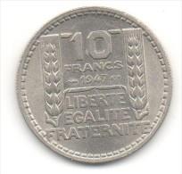 10 FRANCS TURIN 1947 GROSSE TÊTE RC SPL - Frankrijk