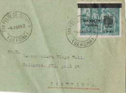 5332. Frontal SAN FELIU De GUIXOLS (Gerona) 1942. Benefico - 1931-Today: 2nd Rep - ... Juan Carlos I