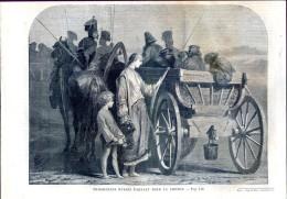Prisonniers Russes Partant Pour La Sibérie      Gravure, Document    1859 - Collezioni