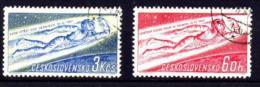 CSSR / Czech: 'Gagarin - Erster Mensch Im All, 1961' / 'First Man In Space', Mi 1263-1264; Yv 1145-1146; Sc 1042-1043 Oo - Space