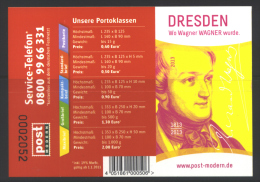 Deutschland PostModern MH 'Richard Wagner' / Germany Booklet 'Richard Wagner' **/MNH 2013 - Musique