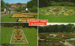 STANLEY PARK - BLACKPOOL - LANCS - FLORAL CLOCK - 1975 - Blackpool
