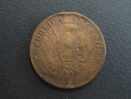1889 - 2 Centavos Argentine - Argentina - Argentina