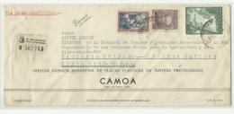 Lettre Recommandée D´Argentine Pour La FAO, ONU, New York, 1957 - Covers & Documents