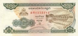 BILLET #  CAMBODGE )  # PICK 42 # 200 RIELS  #  1995 # NEUF - Cambodia
