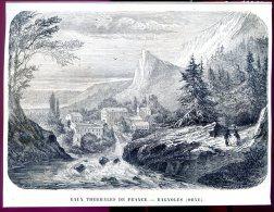 Thermes De Bagnoles, Orne          Gravure, Document    1859 - Vieux Papiers