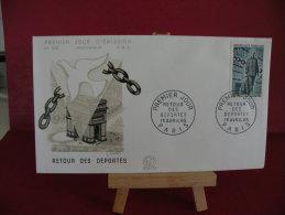 FDC, Retour Des Déportés - Paris - 1.4.1965 - 1er Jour - - 1960-1969