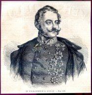 Le Feld Maréchal Giulay         Gravure, Document    1859 - Vieux Papiers