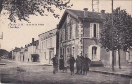 CPA - 40 - LABOUHEYRE (Landes) - Rue De La Poste Et Beau Plan De La Poste, Télégraphe, Téléphone Voy 1925  Recto Verso - Other Municipalities
