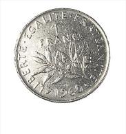 France -  1 Franc Semeuse - 1960 - Gros 0 - Rare - Ni. - TB - H. 1 Franc