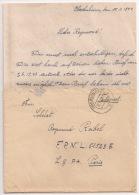 B31 - OBEREHNHEIM  Bas Rhin - Janvier 1944 - Feldpost Avec Correspondance Pour LG PA PARIS  - - Marcophilie (Lettres)