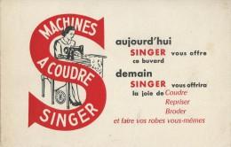 """Machine à Coudre     """"  SINGER   """"        -   Ft  =  13 Cm  X  21 Cm - Buvards, Protège-cahiers Illustrés"""