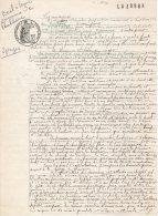 VP171 - PAULHENC  X  SAINT MARTIN SOUS VIGOUROUX 1929 - Acte Bail à Ferme - Manuscripts