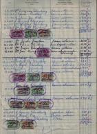 Plus De 210 Timbres Fiscaux Sur Superbe Registre Belgique 1954 Estaimbourg Voir Les Photos - Manuscrits