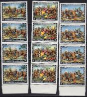 Jordan 1974 3 Blocs Of 4 V MNH   Battle Of Muta Horses Horse Chevaux Cheval Caballos Cavali Pferse Paarden - Histoire