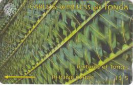 TONGA(GPT) - Textures Of Tonga 1(green), CN : 185CTGA, Tirage 15000, Used - Tonga