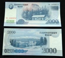2009  Korea 2000 Won. New. Uncirculated. Asian Banknotes. UNC. 1PCS. - Corée Du Nord