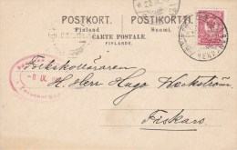 Finland; Censored Card 1916 - 1856-1917 Administration Russe