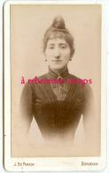 CDV Très Beau Portrait De Femme Avec Chignon-taille Extra Fine-photo De Parada à Bordeaux - Photos