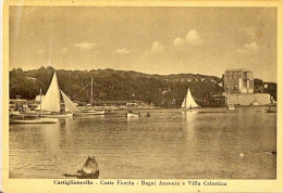 Toscana Livorno Provincia Castigioncello Costa Fiorita Bagni Ausonia E Villa Celestina 1947 - Livorno