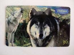 Phoncard/Telecarte/Cartão Telefónico Telefonica Série Animais Selvagens Lobo 30 Unidades Tiragem 500000 Ex. - Telefonkarten