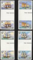 Tuvalu 1986 SAIL SHIPS Imperf / NON-DENTELE GUTTER PAIRS SC#353-566 MNH CV$36.00 - Tuvalu