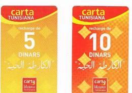 TUNISIA  -  TUNISIANA  (GSM RECHARGE) - LA CARTE VIVANTE (LOT OF 2 DIFFERENT)       -  USED  -  RIF. 2659 - Tunisia