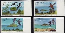 ST.LUCIA 1985 BIRDS Imperforated LARGE MARGINS SC#770-73 CV$24.00 - Marine Web-footed Birds