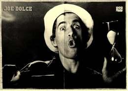 Kleines Musik-Poster  -  Joe Dolce  -  Rückseite :  Sternzeichen Jungfrau  -  Von Pop Rocky Ca. 1982 - Plakate & Poster