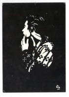 Cp , SILHOUETTES , Dessin De Gin , Solidarité Avec Le RUANDA , Tirage 500 Ex. , 1988 , Vierge , Ed : A.D.I.D - Silhouettes